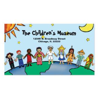 Niños de la tarjeta del perfil del mundo tarjeta de visita