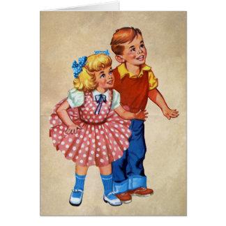 Niños de la tierra del caramelo tarjeta de felicitación