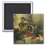 Niños de las calles de París, 1852 Imán Cuadrado