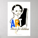 Niños de las clases de arte WPA 1940 Posters