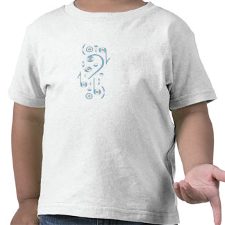Niños de las notas musicales de la bandera de Gaut Camisetas