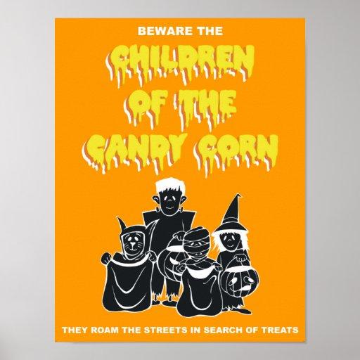 Niños de las pastillas de caramelo póster