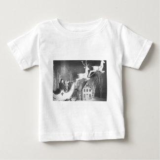 niños de los años 50 en el trineo de Santa T-shirt