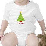 Niños de los lunares del árbol de navidad personal camisetas