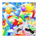 Niños de los niños del feliz cumpleaños impresiones de lienzo