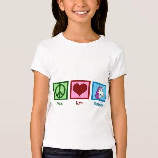 Niños de los unicornios del amor de la paz playera