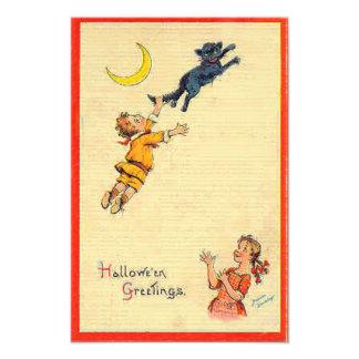 Niños de luna crecientes del gato negro fotografía