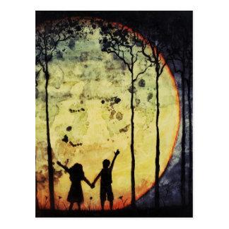 Niños de luna tarjetas postales