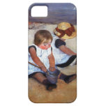 Niños de Mary Cassatt en la playa iPhone 5 Case-Mate Coberturas