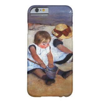 Niños de Mary Cassatt en la playa Funda De iPhone 6 Barely There