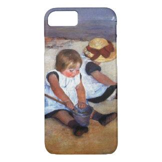 Niños de Mary Cassatt en la playa Funda iPhone 7