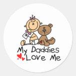 Niños de padres gay etiquetas redondas