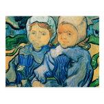 Niños de Van Gogh dos Postal