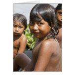 Niños de Warao de la tarjeta de Venezuela