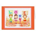niños del amor felicitacion
