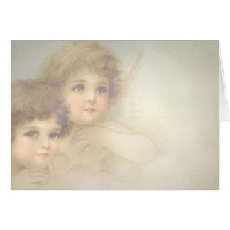 Niños del ángel tarjetón