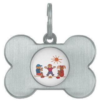 Niños del Balanceo-Totter Placas De Nombre De Mascota