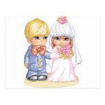 Niños del boda postal