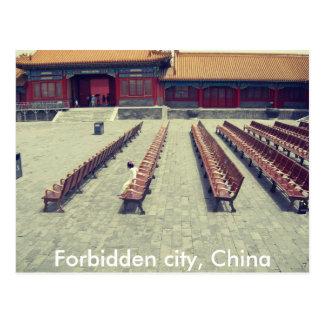 Niños del chino de la postal de China de la ciudad