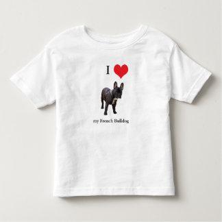 Niños del corazón del amor del dogo francés I, T-shirt