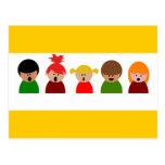 niños del coro choir-310673 que cantan a música c  postal