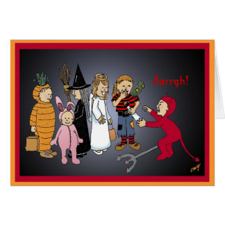 ¡Niños del feliz Halloween, Aarrgh! Tarjeta De Felicitación