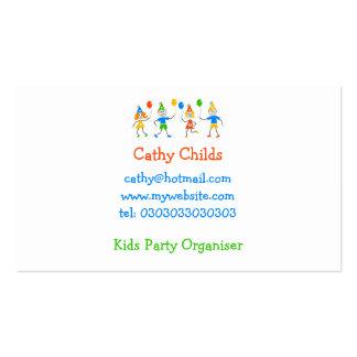 Niños del fiesta tarjetas de visita