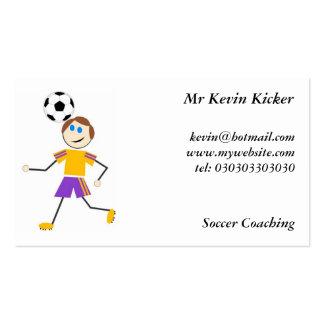 Niños del fútbol tarjetas de visita