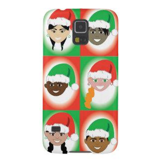 Niños del gorra de Santa del navidad Funda Galaxy S5
