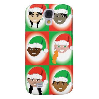 Niños del gorra de Santa del navidad Funda Para Samsung Galaxy S4