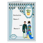 Niños del kimono tarjeta de felicitación