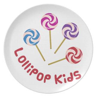 Niños del Lollipop Plato De Comida