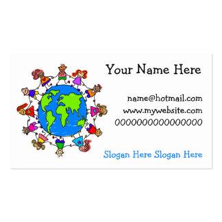 Niños del mundo tarjeta de visita