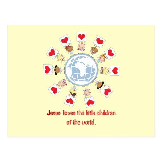 Niños del mundo tarjeta postal