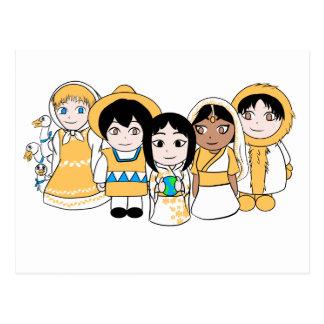 Niños del mundo postal