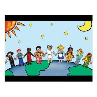 Niños del mundo postales