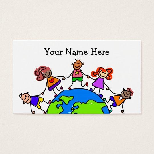 Niños del mundo tarjetas de visita