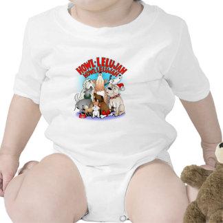 Niños del navidad de los perros traje de bebé
