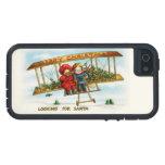 Niños del navidad del vintage que buscan Santa iPhone 5 Case-Mate Protectores