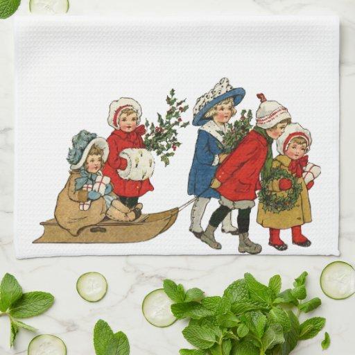 Niños del navidad toalla de mano