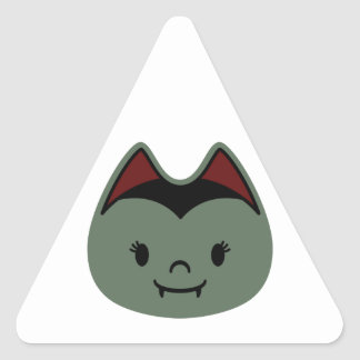 Niños del palo de vampiro pegatina triangular
