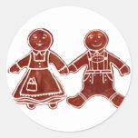 Niños del pan de jengibre 3 los regalos de Zazzle Pegatina Redonda
