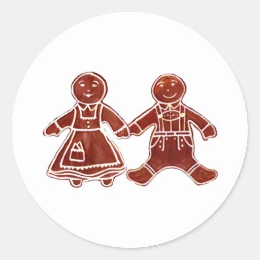 Niños del pan de jengibre 3 los regalos de Zazzle Etiqueta Redonda
