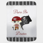 NIÑOS del pirata de Scallywag Mantas De Bebé
