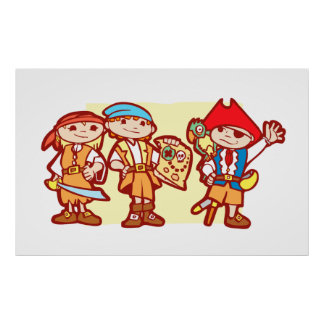 Niños del pirata posters