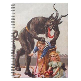 Niños del secuestro de Krampus Libro De Apuntes Con Espiral