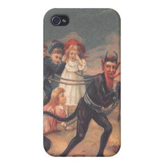 Niños del secuestro de Krampus iPhone 4 Carcasas