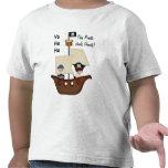 Niños del tesoro del barco pirata camiseta