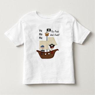 Niños del tesoro del barco pirata remera