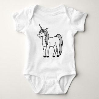 Niños del unicornio y camisa blancos del bebé